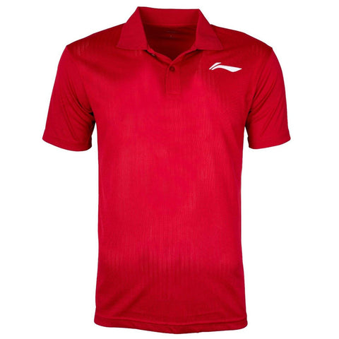 Li-Ning Training Polo Tshirt, Red/White - Best Price online Prokicksports.com