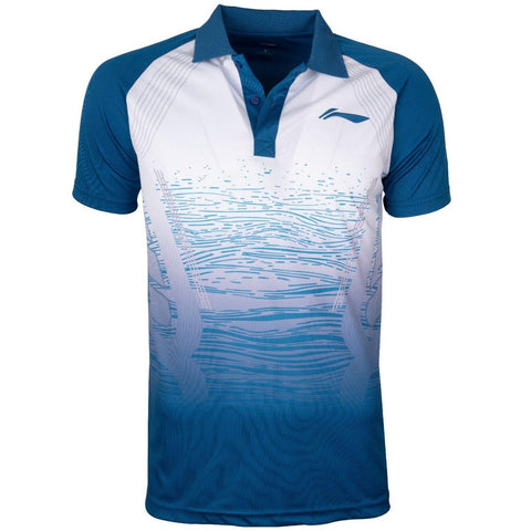 Li-Ning Active Polo Tshirt, Royal Blue - Best Price online Prokicksports.com