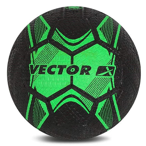 Vector X Street Soccer Rubber Moulded Football, Size 5 (Green/Black) - Prokicksports.com