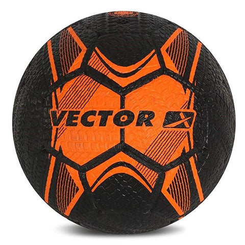 Vector X Street Soccer Rubber Moulded Football, Size 5 (Orange/Black) - Best Price online Prokicksports.com
