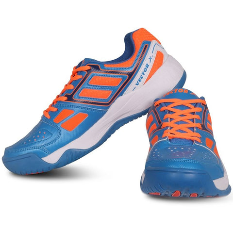 Vector X TS-7000 Tennis Shoes (Blue-Orange) - Prokicksports.com