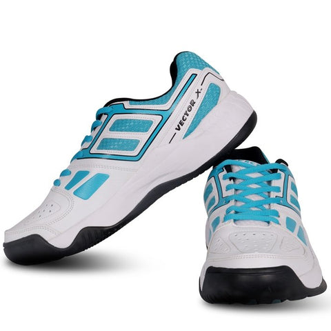 Vector X TS-7000 Tennis Shoes (White-Sky Blue) - Prokicksports.com