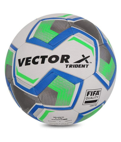 Vector X Thermo Fusion Trident Rubberised Football, (White) Size 5 - Prokicksports.com