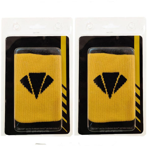 Carlton Wristband for Badminton and Multisports - Yellow/Black (Set of 2) - Best Price online Prokicksports.com