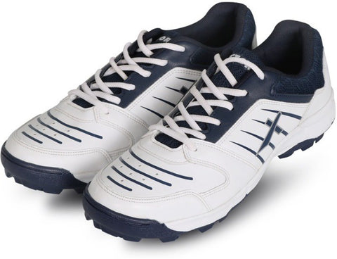 Vector X All-Rounder Cricket Studs Shoes, White/Navy - Prokicksports.com