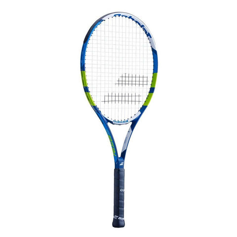 Babolat Pulsion 102 Strung Tennis Racquet Grip 3 - Blue/Green/White - Best Price online Prokicksports.com