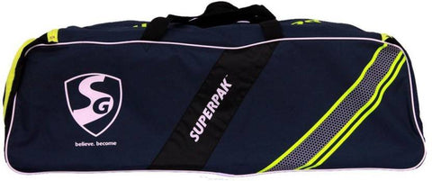 SG Superpak Cricket Kit Bag, Large (Navy Blue/Black/Green) - Best Price online Prokicksports.com