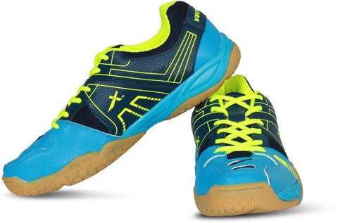 Vector X CS 2040 Badminton Non-Marking Shoes, Blue/Green - Best Price online Prokicksports.com