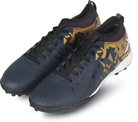 Vector X Flame Indoor Football Shoes (Navy-Gold) - Best Price online Prokicksports.com
