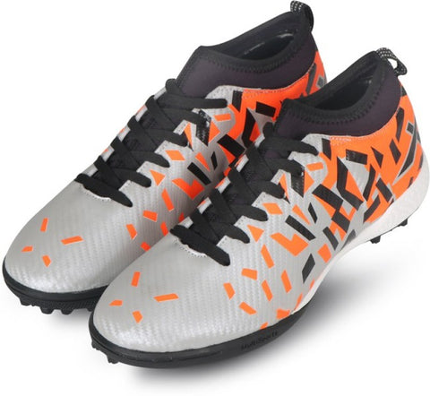 Vector X Flame Indoor Football Shoes (Silver-Orange) - Best Price online Prokicksports.com