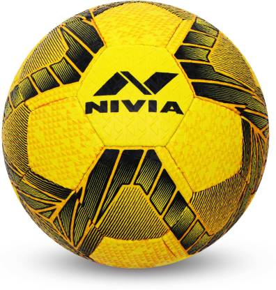 Nivia Street Football - Size: 5  (Pack of 1, Yellow/Black) - Best Price online Prokicksports.com