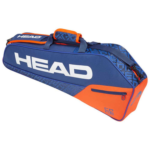 Head Core 3 Racquet Pro Tennis Kitbag - Blue/Orange - Prokicksports.com