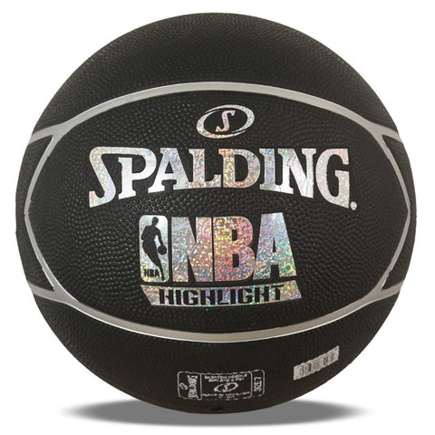 Spalding NBA Highlight Basketball (Black-Silver) (Size-7) - Prokicksports.com
