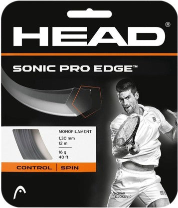 HEAD Sonic Pro Edge Tennis String 16L (Black) - Prokicksports.com