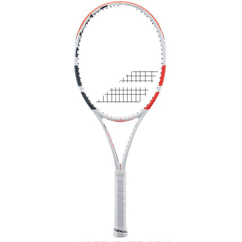 Babolat 101404 323 Pure Strike 18/20 U NC Tennis Racquet - White Red Black - Best Price online Prokicksports.com
