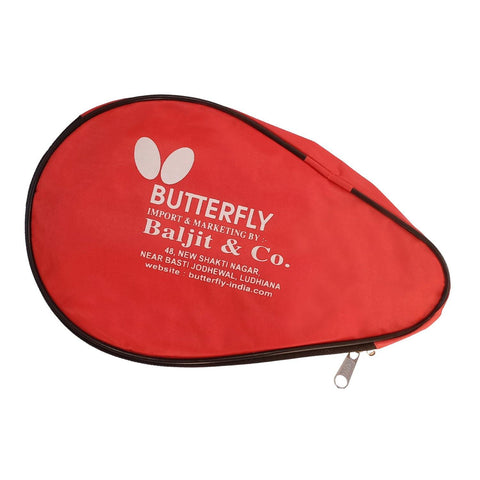 Butterfly Table Tennis Bat Cover - Red (Single) - Best Price online Prokicksports.com