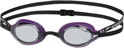 Speedo Fastskin Speedsocket 2 Competitive Mirror Swimming Goggles, Free Size (Purple/Smoke) - Prokicksports.com
