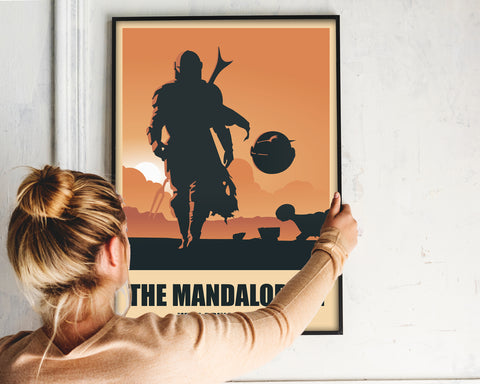 The Mandalorian Star Wars Poster