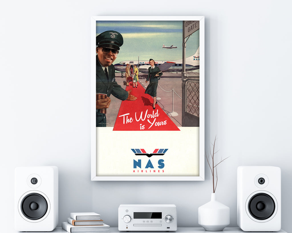 Nas Airlines Print - HappyLittleHome
