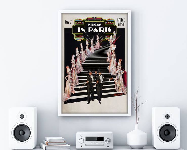 Jay-Z Kanye West Niggas in Paris Print - HappyLittleHome