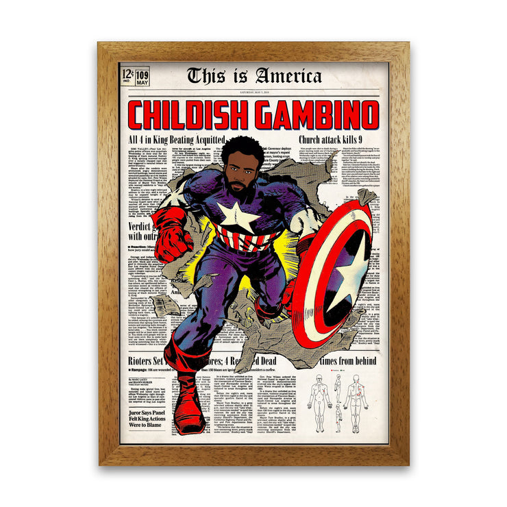 Childish Gambino Print