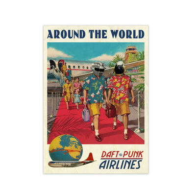 Around The World Daft Punk Print - HappyLittleHome