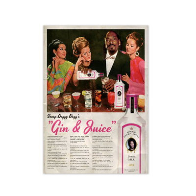 Snoop Dogg Gin & Juice Print