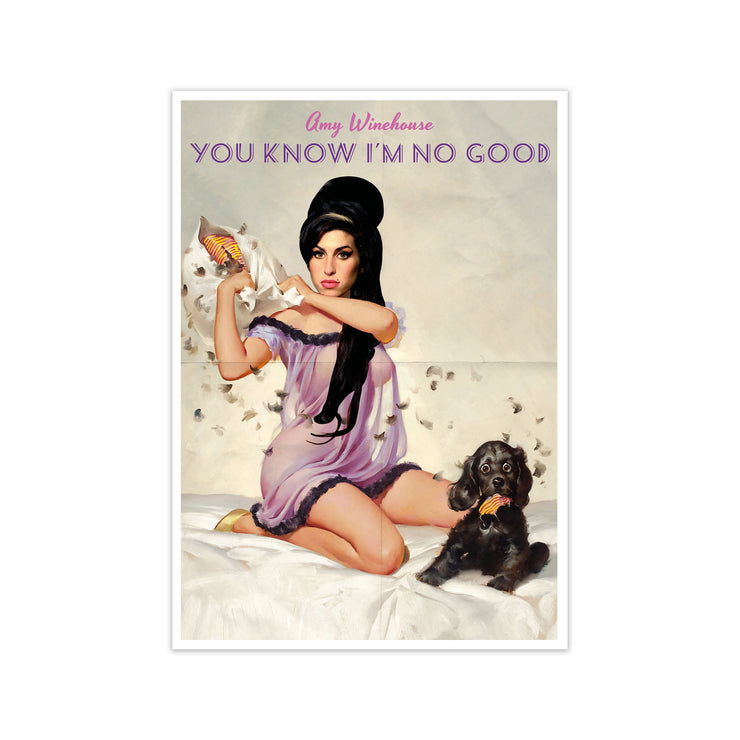 Amy Winehouse You Know I'm No Good Print - HappyLittleHome