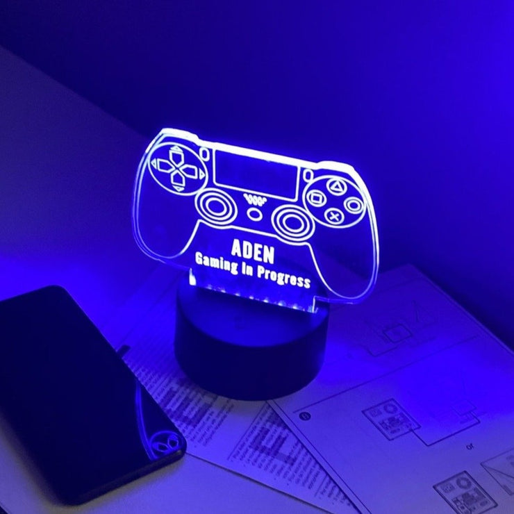 Personalised Gaming Night Light, Custom PlayStation LED Neon Game Controller Sign - HappyLittleHome
