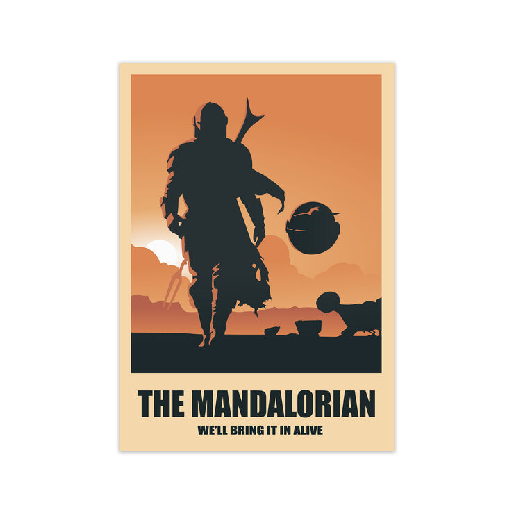 The Mandalorian Star Wars Print
