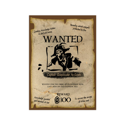 Sea of Thieves Personalized Wanted Print - HappyLittleHome