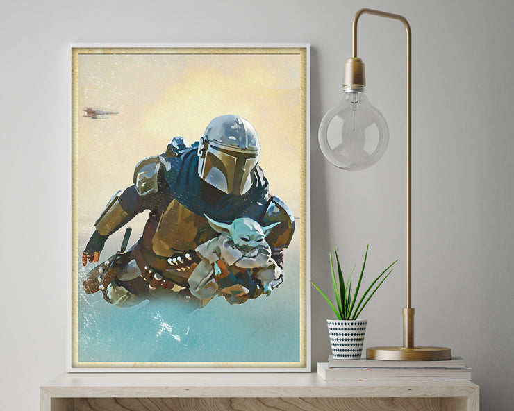 Baby Yoda The Mandalorian Poster - HappyLittleHome