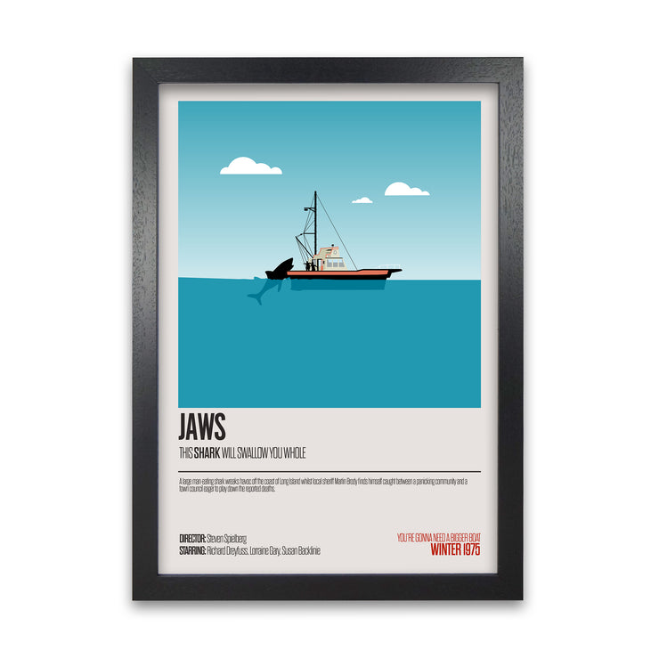 Jaws Movie Poster - HappyLittleHome
