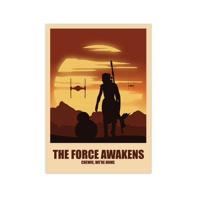 Force Awakens Star Wars Poster - HappyLittleHome
