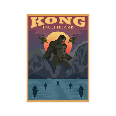Kong Skull Island Movie Poster - HappyLittleHome