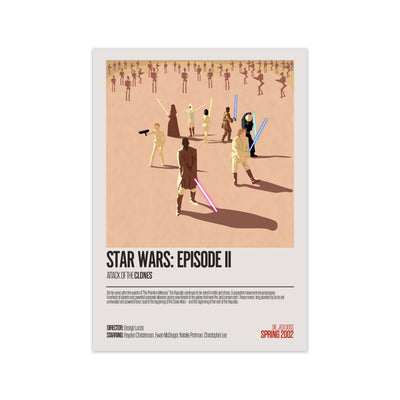 Star Wars Attack of The Clones Movie Poster - HappyLittleHome