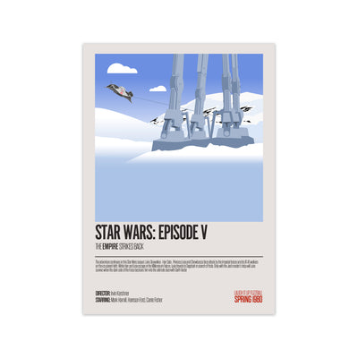 Star Wars The Empire Strikes Back Movie Poster - HappyLittleHome