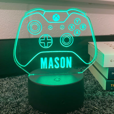 Personalised Xbox LED Neon Custom Game Controller Night Light Sign