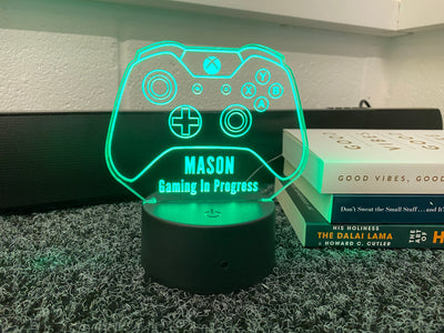 Personalised Gaming Night Light, Custom Xbox LED Neon Game Controller Sign