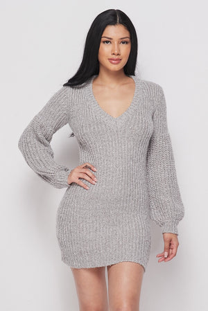 Taupe Sweater Mini Dress