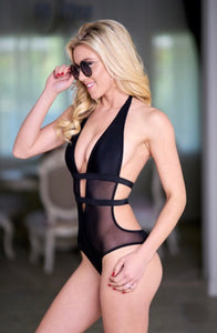 Caviar Mesh One Piece Swimsuit