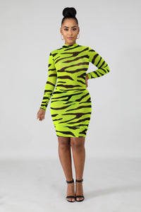 Neon Stripe Mini Dresses