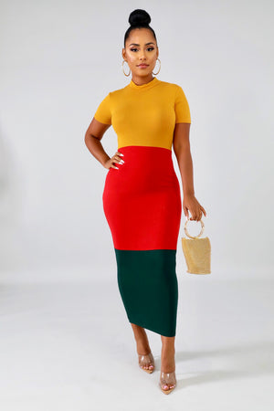 Fall Fling Curvy Bodycon Dress