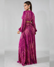 Load image into Gallery viewer, Godiva Pink Pleated Maxi Skirt set