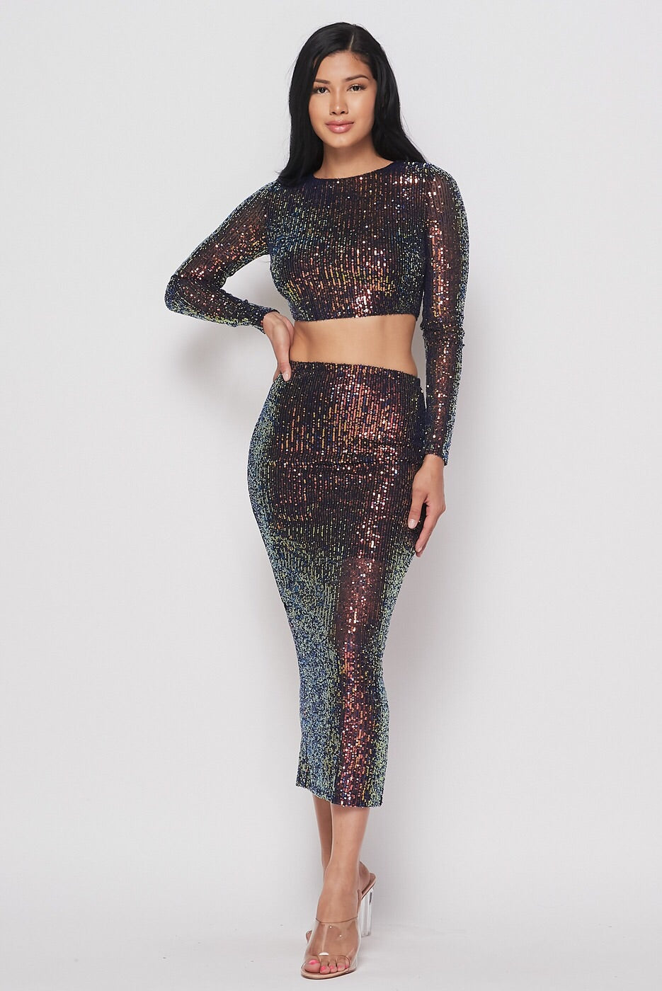 Gold Sequin Set