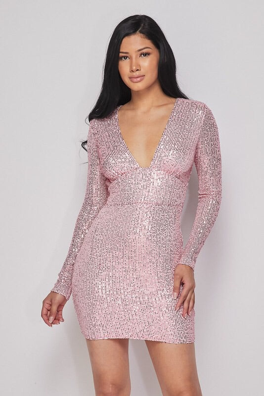 She's On Top Sequin Mini Dress