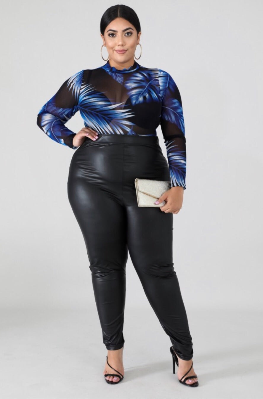 Reflex Faux Leather Curvy Biker Pants