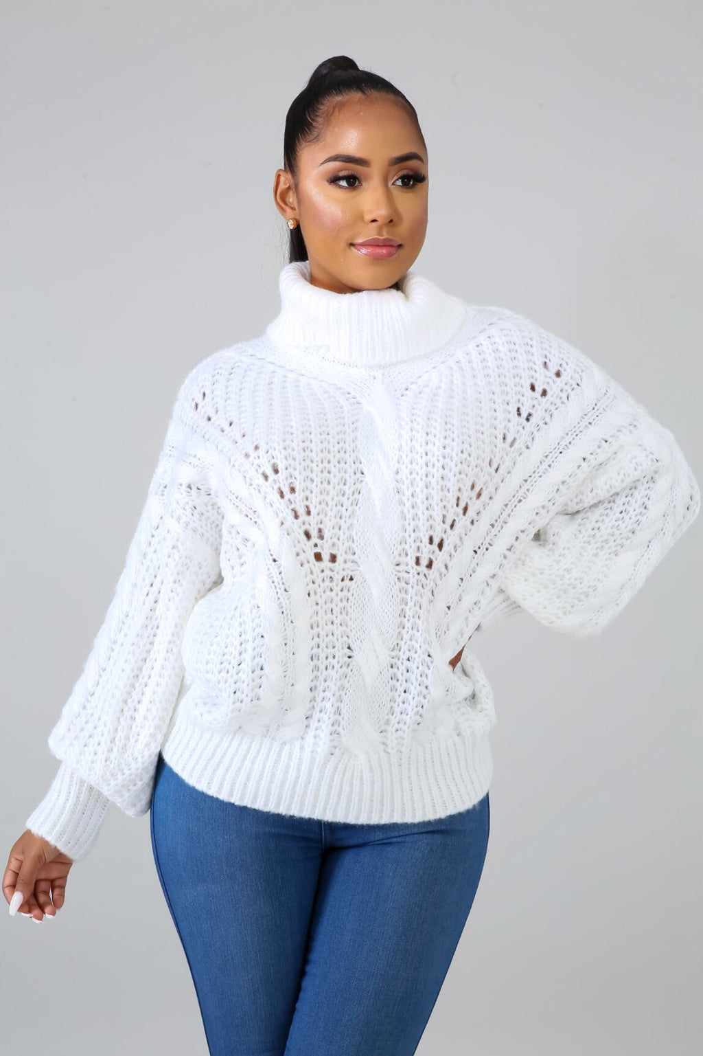 Frost Oversized Turtle Neck Sweater
