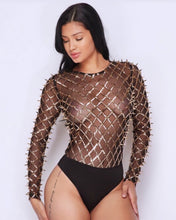 Load image into Gallery viewer, Mad Max Spiked Bodysuit Top