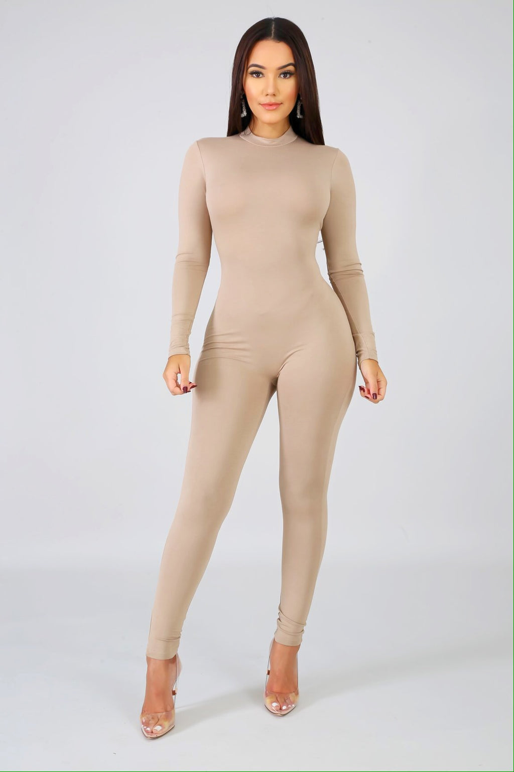 Feel Me Beige Jumpsuit
